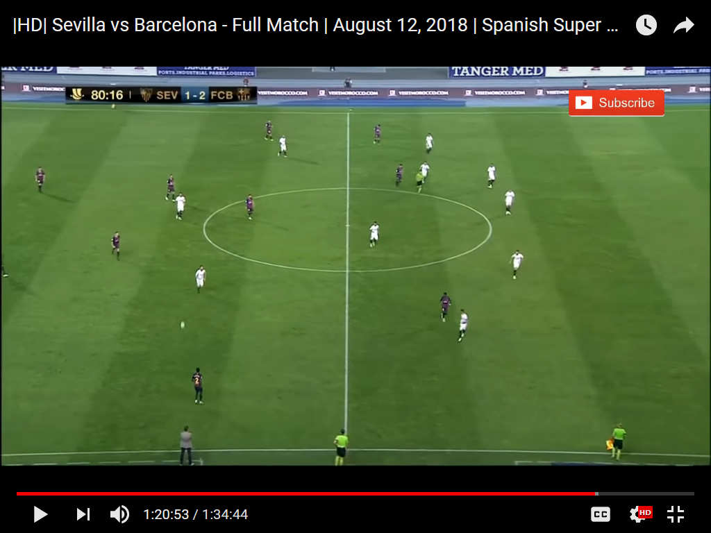 e1c9e5fc274 The 4 – 2 – 3 – 1 as used against Sevilla in the Super Cup. See that Messi  has moved central in front of Busquets and Rakitic and Dembele is now ...